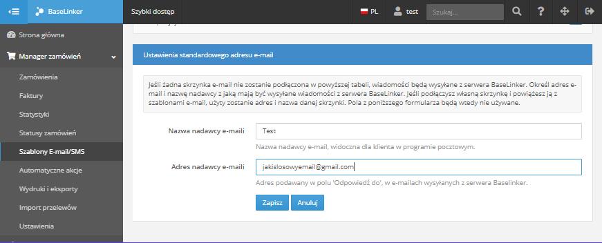 Szablony E Mail Konta E Mail Pomoc Baselinker