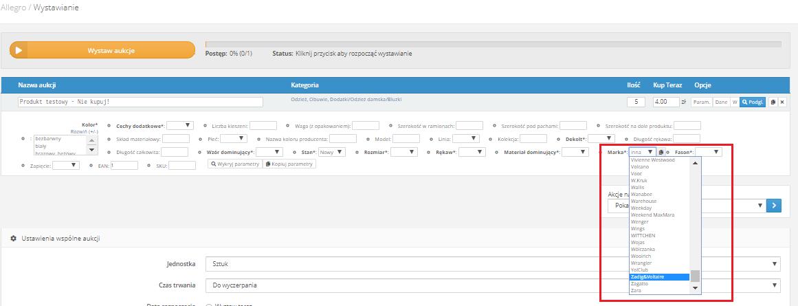 Aktualizacja Parametrow Allegro Pomoc Baselinker